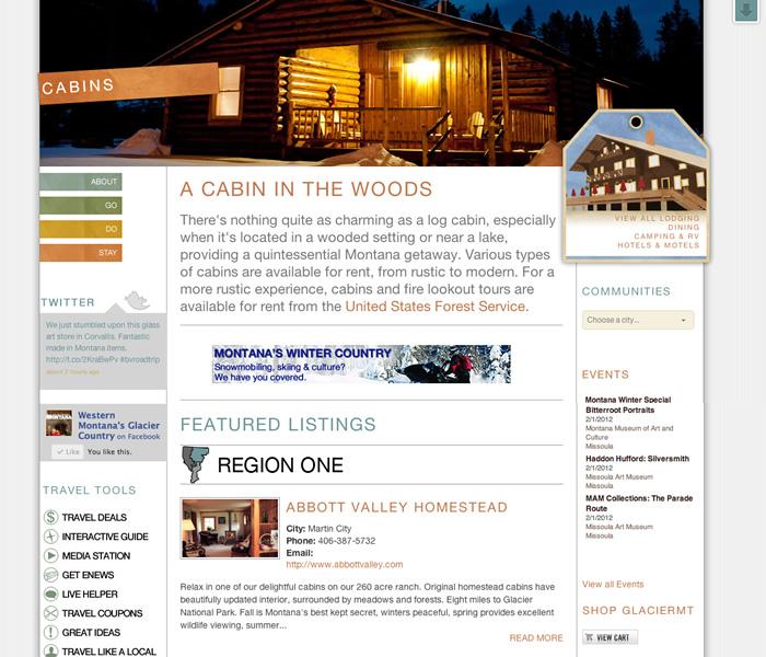 Glacier Stay Page